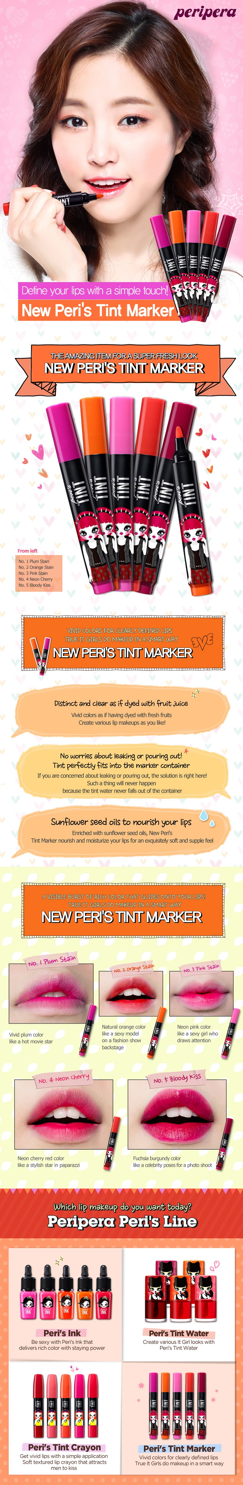 PERIPERA Peris Tint Marker - 5 Colors