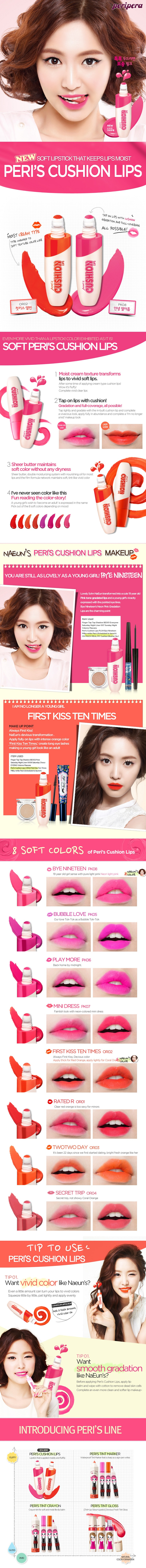 PERIPERA Peris Cushion Lips - 8 Colors