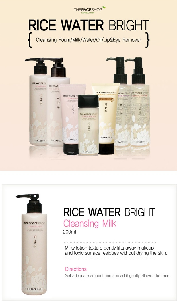 The Face Shop Rice Water Bright Cleansing Milk - 200ml