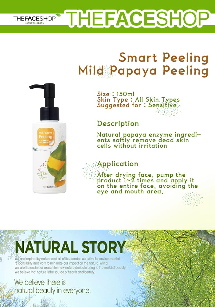 The Face Shop Smart Peeling Mild Papaya Peeling (150ml)