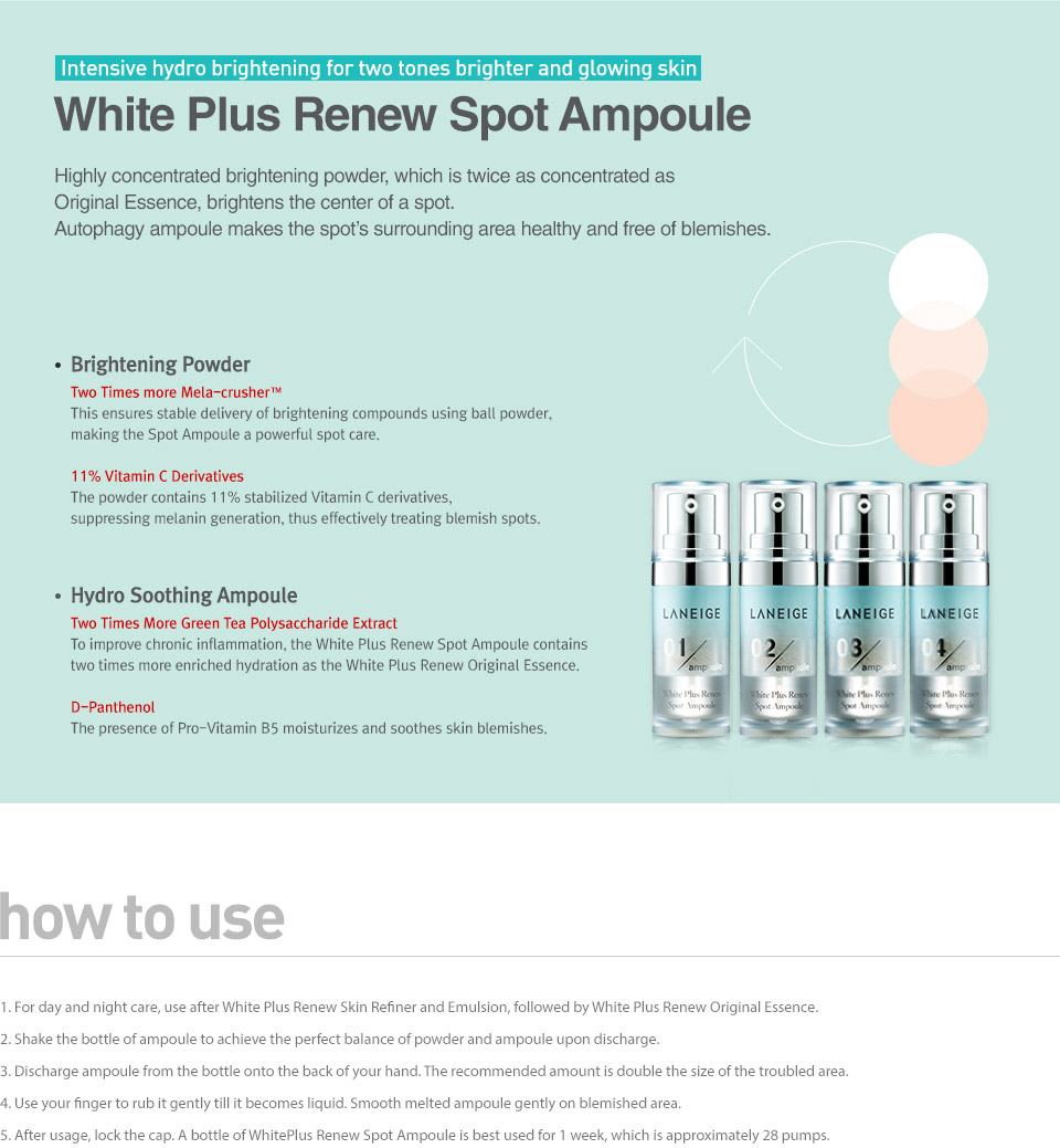 LANEIGE White Plus Renew Spot Ampoule