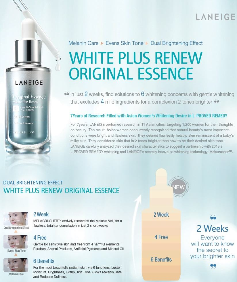 LANEIGE Original Essence White Renew