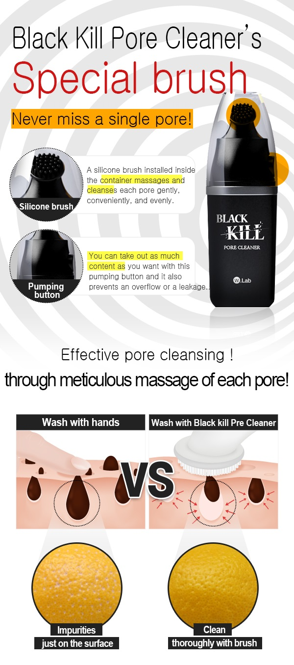 W.Lab Black Kill Pore Cleaner Korean Beauty