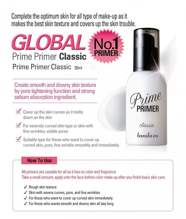 Korean Cosmetics-Banila Co. Prime Primer Classic (30ml)