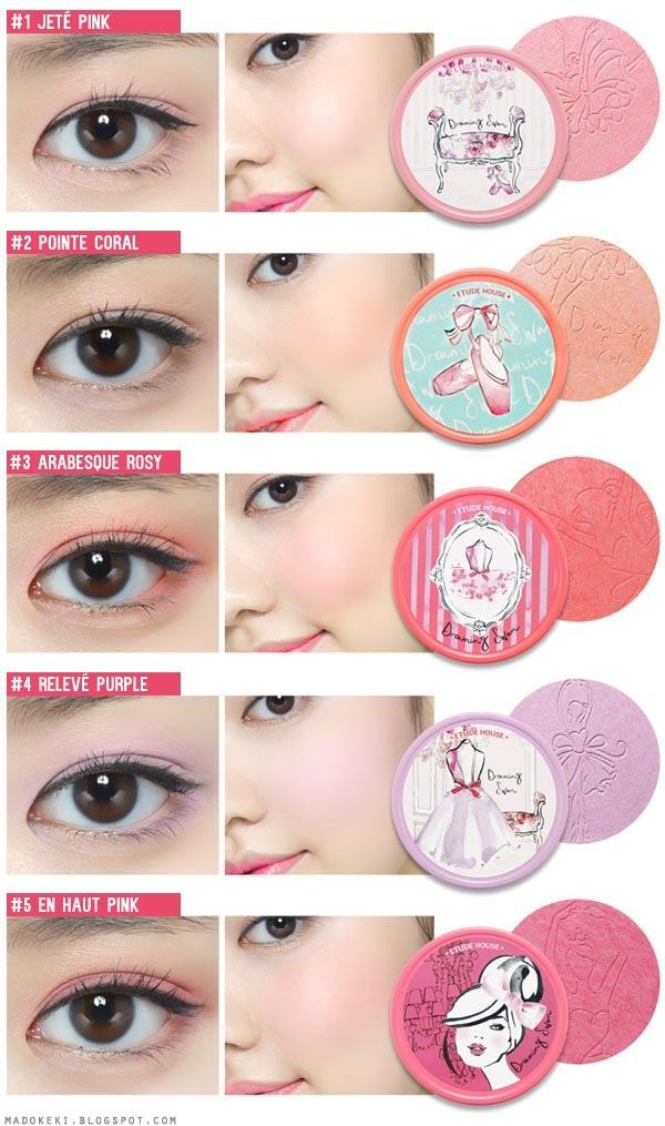 ETUDE HOUSE Dreaming Swan Eye and Cheek Korean Makeup