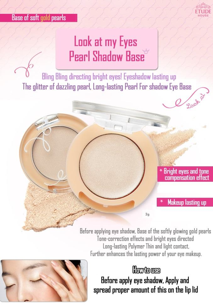 ETUDE HOUSE Look at My Eyes Pearl Shadow Base - Korean Makeup
