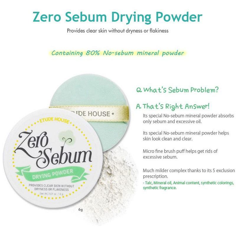 ETUDE HOUSE Zero Sebum Drying Powder - Korean Makeup