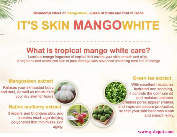 Korean Makeup-It's Skin Mango White Cleansing Foam