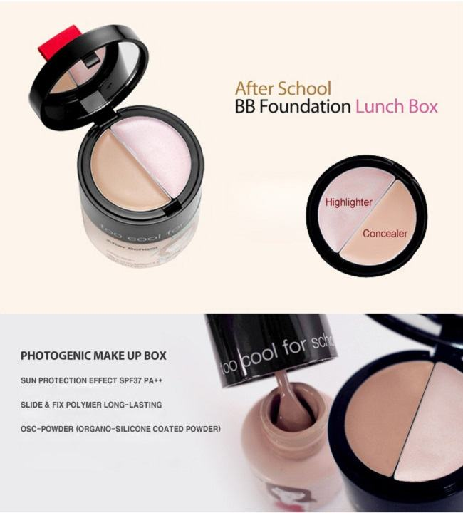 Korean Makeup-Too Cool for School After School BB Foundation Lunch Box [No.3]