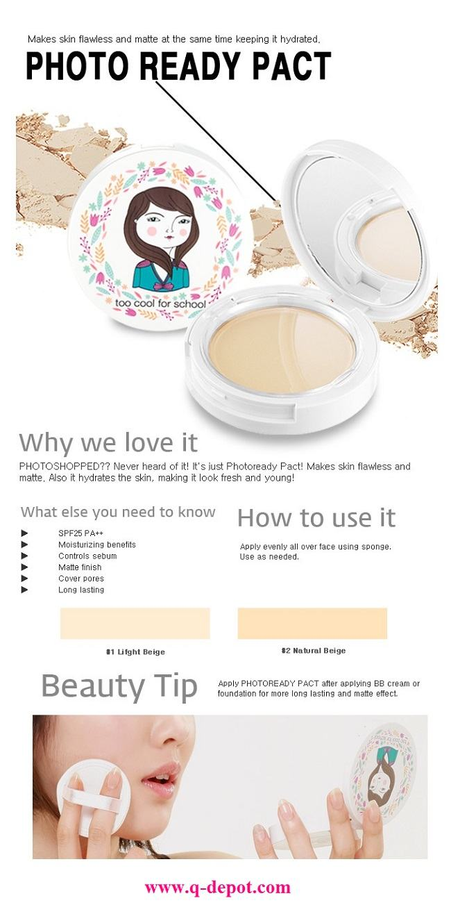 Korean Makeup-Too Cool for School Photoready Pact SPF25