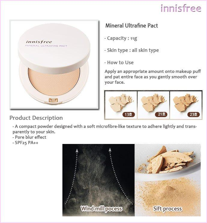 Innisfree Mineral Ultrafine Pact (SPF25/PA++)