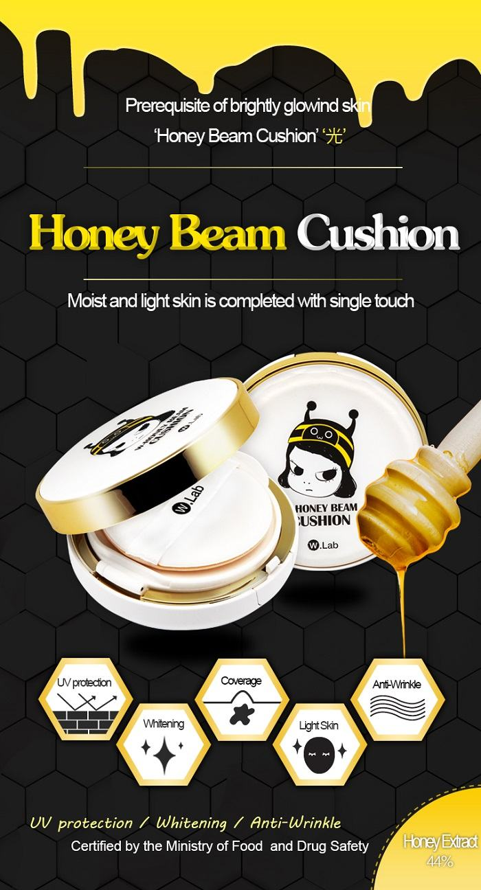 W.Lab W-Honey Beam Cushion 21-23 Korean cosmetics