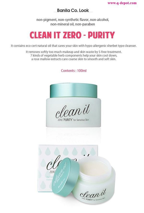 Korean Cosmetics-Banila Co. Clean it Zero (Purity) [100ml]