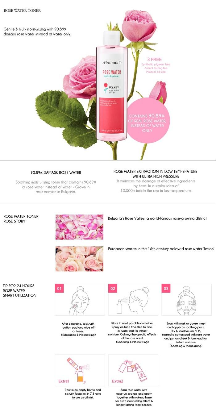 Korean Skin Care-Mamonde Rose Water Toner